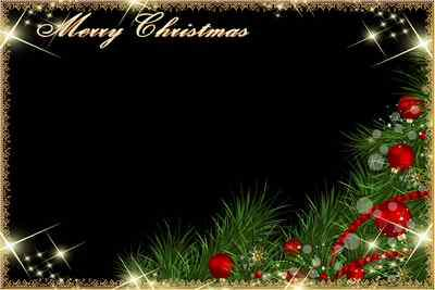 Frame for foto - Merry Christmas (free frame psd + free frame png)