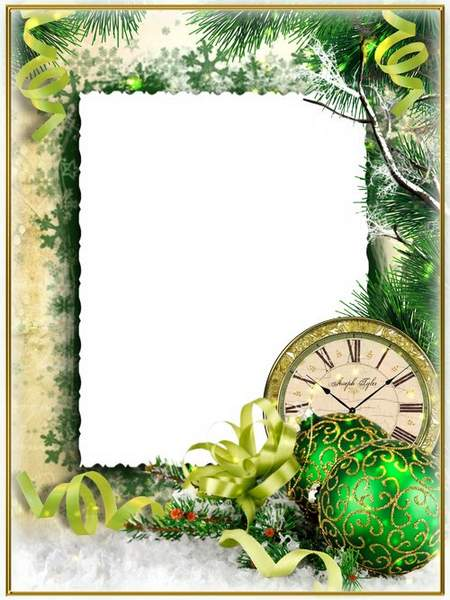 Christmas photo frame psd - Lovely holiday