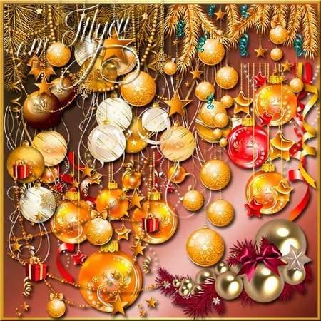 Clip Art Christmas balls psd