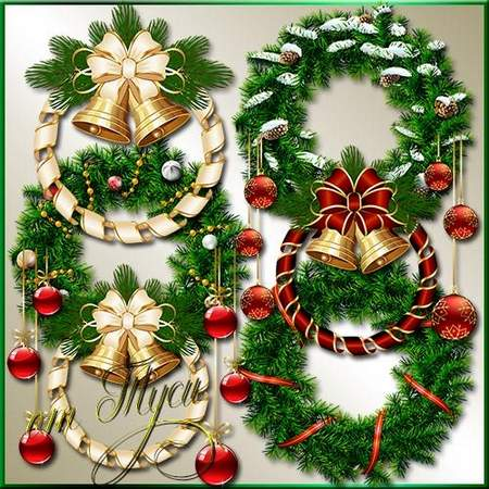 Tubes Noel Divers - Christmas Border In Psd - Free Transparent PNG Clipart  Images Download