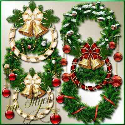 Christmas wreath Clipart psd ( free clipart psd, free download )