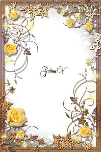 Romantic Frame with Roses - Flower Jungle ( free photo frame psd + free photo frame png) download
