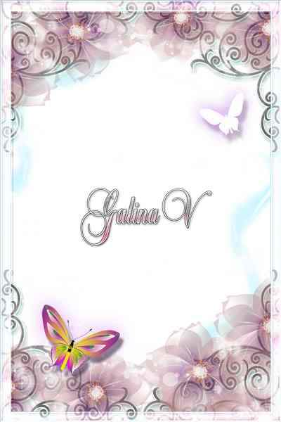 Frame for Photo - Air Flowery Romantic ( free photo frame psd + free photo frame png) download