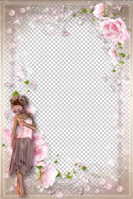 Tender romantic frame pink flower fairy free photo frame psd tender romantic frame pink flower fairy mightylinksfo
