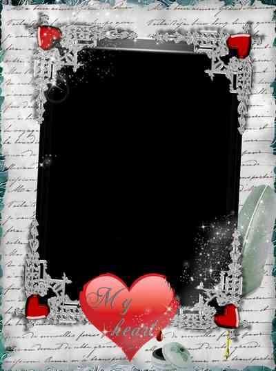 Frame for photoshop - Write the story of our love ( free photo frame psd + free photo frame png)