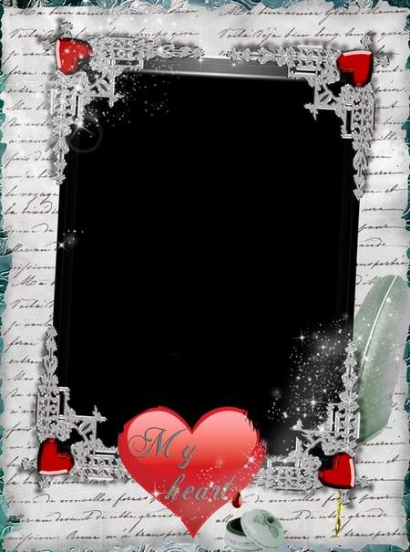 Frame for photoshop - Write the story of our love