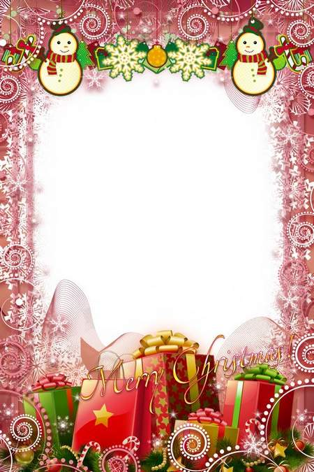 Celebratory Frame psd - Merry Happy Christmas