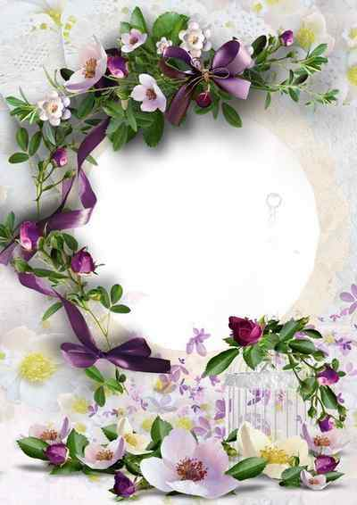 Beautiful floral frame png ( free photo frame png, free download )