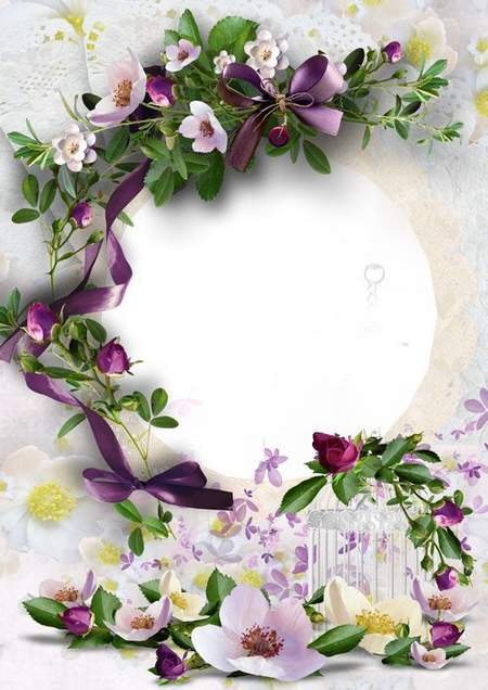 Beautiful floral frame png