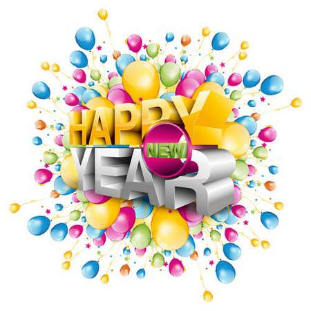 New Year clipart psd ( free psd clipart, free download )