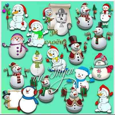 Snowman Clip Art psd ( free psd clipart, free download )