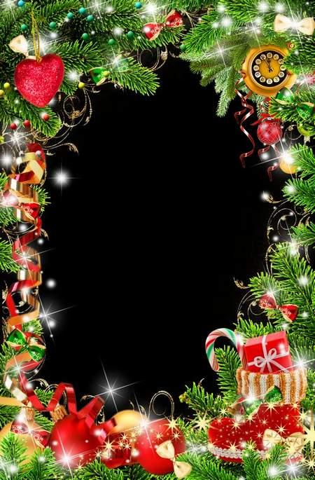Bright Christmas Frame