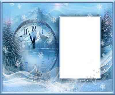 Winter photo frame collage psd ( free photo frame psd, free download )