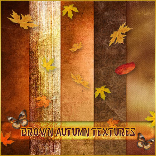 A set of beautiful autumn brown textures ( free textures, free download )