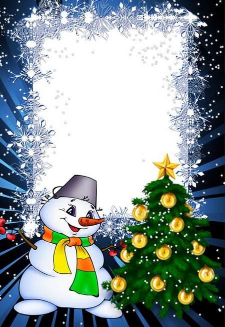 Photoframe - Snow Christmas Tree