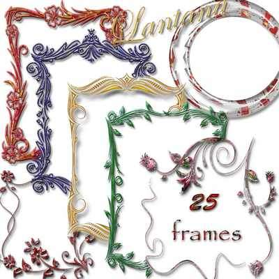 Collection of colorful frames png for photoshop ( free 25 frames png, free download )