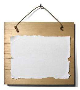 Four wooden plaques - backgrounds