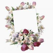 Free Frames png-necklines with flowers download - greens in the noise, the noise of spring