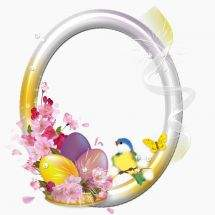 Easter Frames-cuts on a transparent background
