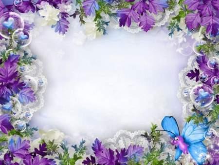 Children frame psd for Photoshop - Mischievous Butterfly