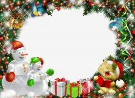 Winter frames for kids - New Year's Kaleidoscope