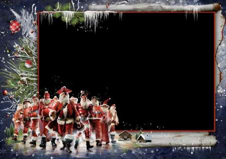 Fantastic Santa Clauses ( free photo frame psd + free 10 photo frames png + free download)