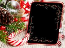 A set of Christmas photo frames png - Bright colors of the magic Christmas Tale ( free 7 frames png, free download )