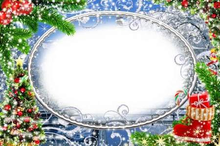 Winter frame for photo processing - The festive mood