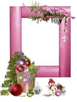 Cutouts for frames - That winter came silvery ( free 45 New Year photo frames png, free download )
