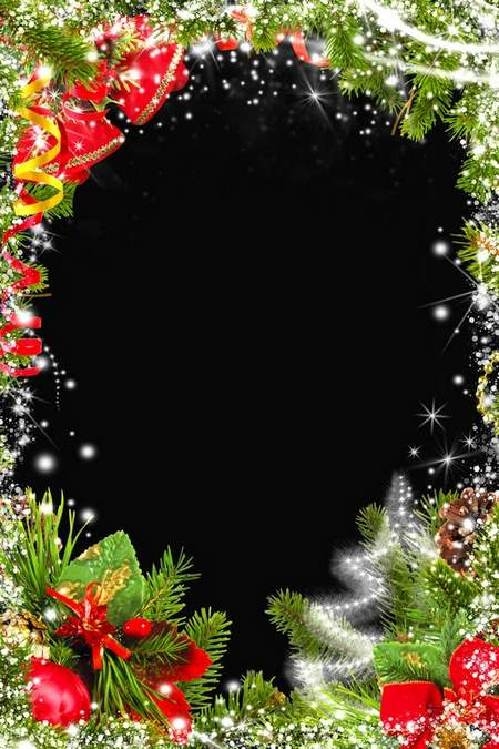 Photo frame psd - Christmas smilies
