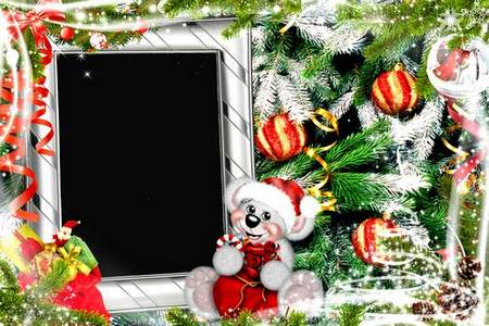 Christmas Photo frame psd download