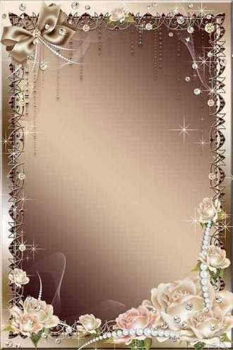 Flower photo frame psd with roses – These roses for you Favourite, the most gentle and beautiful …
