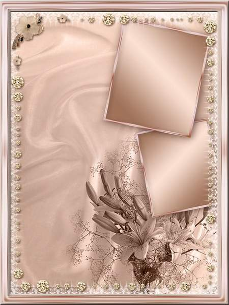 Romantic frame psd for photo