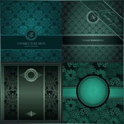 Dark green vintage backgrounds psd with ornamental and floral pattern for Photoshop ( free 4 psd backgrounds, free download )