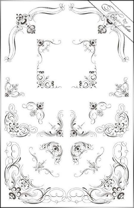 PSD Clipart Decorative corners for Photoshop
