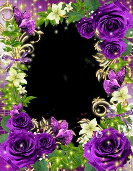 Frame for photo - Flowers bloom on autumn joy for us