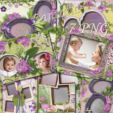 Photo frames - Parade of flowers, hydrangea flowers