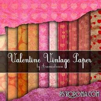 Vintage Valentine Papers ( free 10 backgrounds, free download)