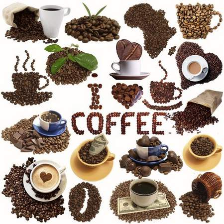 Coffee psd and coffee beans psd