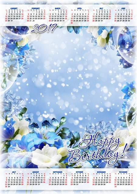 Birthday calendar template free download 57 unique yearly birthday.