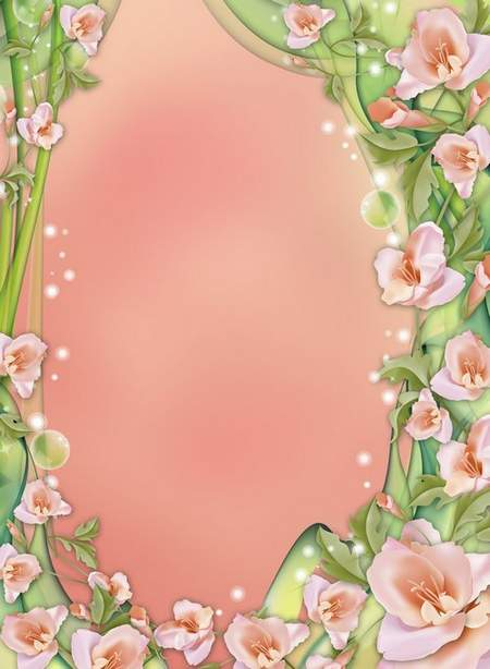Frame for photoshop with roses ( free photo frame psd, free download )