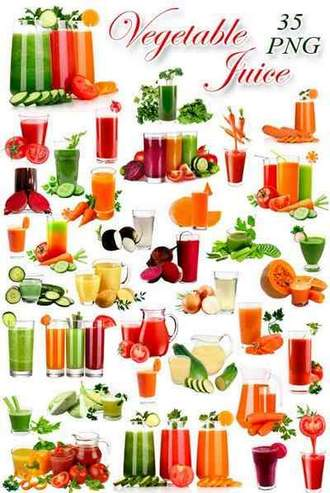 Vegetable juices png on a transparent background ( free 35 png images, ~ 9400 x 2200 px, rar 505 mb, free download )