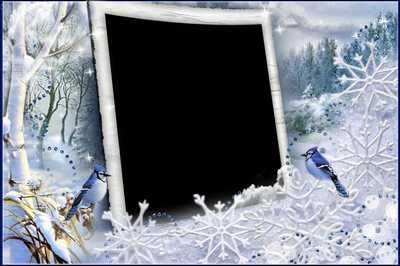Photo frame - There's miracles in the frosty winter's day