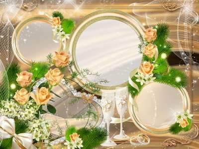 Wedding frame - Let your will be strewn with roses path