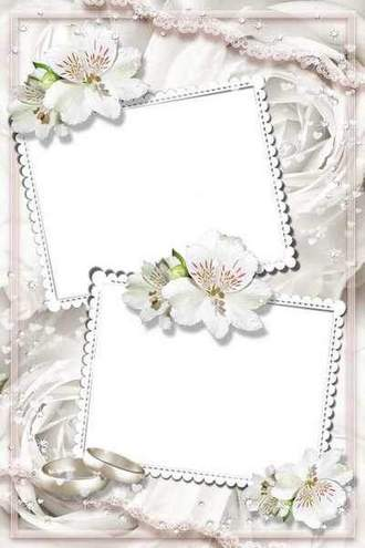 Event Flower Frame — Wedding White Lilies