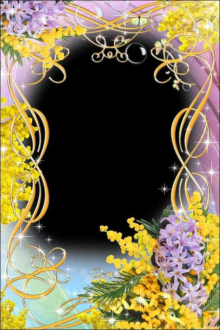 Greeting frame for women With the 8th of March