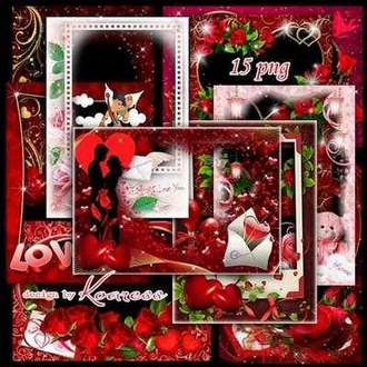 Valentine photo frames png download ( free 15 png frames, free download )