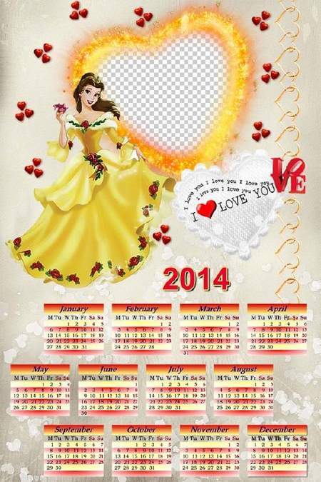 Romantic calendar for February 14 - Gift your loved