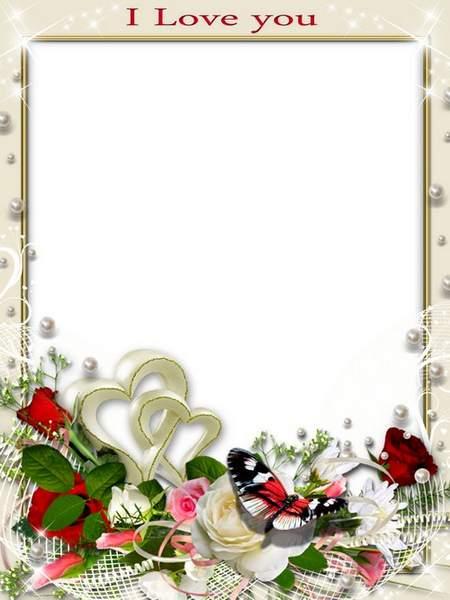 Romantic frame psd for photo - Love