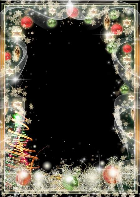 Greeting Photo frame - Merry Christmas and Happy Holidays